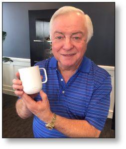 Dr B with Ember Mug