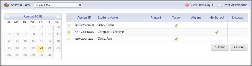 Adjust Student Attendance