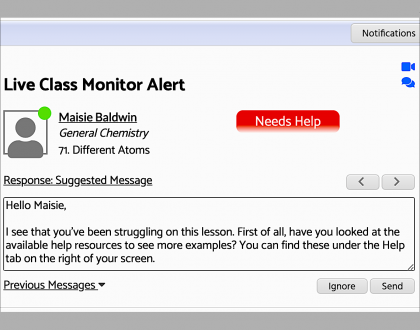 NEW FEATURE: All New Acellus Live Class Monitor